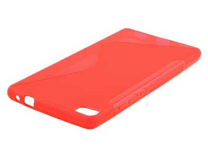 Wave Case for Huawei P8 - Frosted Red/Red