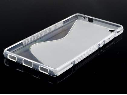 Wave Case for Huawei P8 - Frosted Clear/Clear
