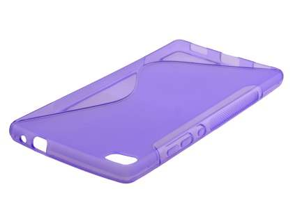 Wave Case for Huawei P8 - Frosted Purple/Purple