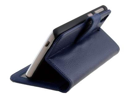 Synthetic Leather Wallet Case with Stand for HTC Desire 626 - Dark Blue