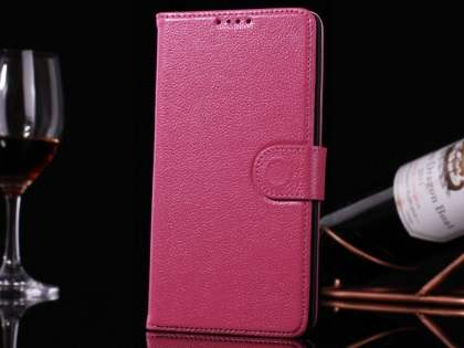 Premium Leather Wallet Case for Samsung Galaxy Note 4 - Pink