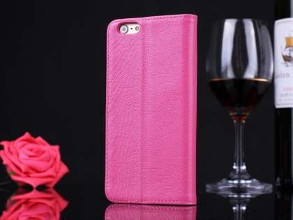 Premium Leather Case With Windows for iPhone 6s/6 - Pink