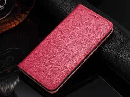 Premium Leather Wallet Case for Samsung Galaxy S6 Edge - Pink