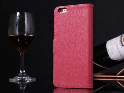 Premium Leather Wallet Case for iPhone 6s Plus/6 Plus - Pink Leather Wallet Case
