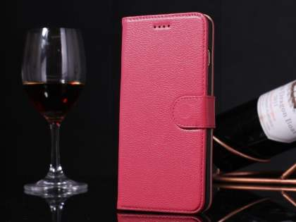 Premium Leather Wallet Case for iPhone 6s Plus/6 Plus - Pink
