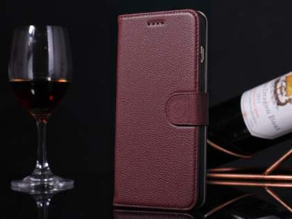 Premium Leather Wallet Case for iPhone 6s Plus / 6 Plus - Rosewood
