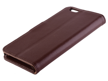 Premium Leather Wallet Case for iPhone 6s/6 - Dark Brown Leather Wallet Case