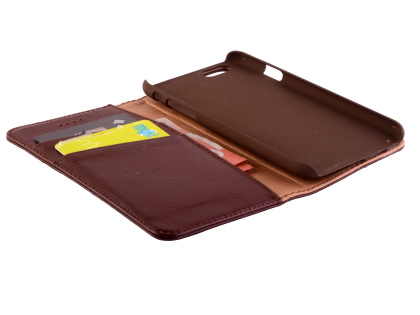 Premium Leather Wallet Case for iPhone 6s/6 - Brown