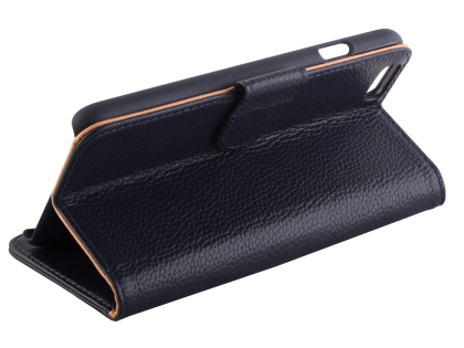 Premium Leather Wallet Case for iPhone 6s/6 4.7 inches - Midnight Blue