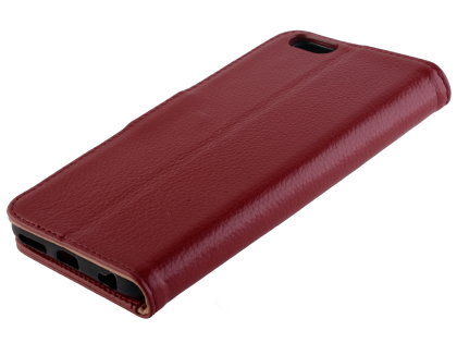 Premium Leather Wallet Case for iPhone 6s/6 - Rosewood Leather Wallet Case