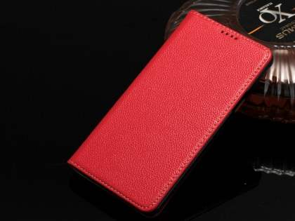 Premium Leather Wallet Case for Samsung Galaxy Note 5 - Red