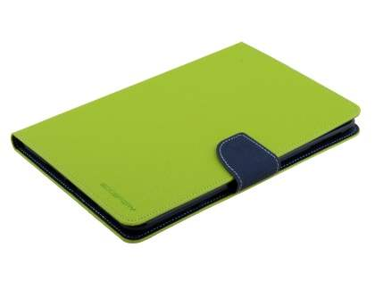 Mercury Goospery Colour Fancy Diary Case with Stand for iPad mini 4 - Lime/Navy Leather Flip Case