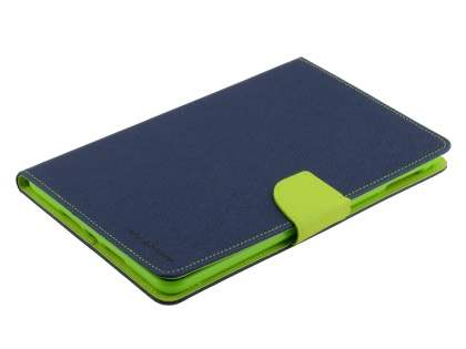 Mercury Goospery Colour Fancy Diary Case with Stand for iPad mini 4 - Navy/Lime Leather Flip Case