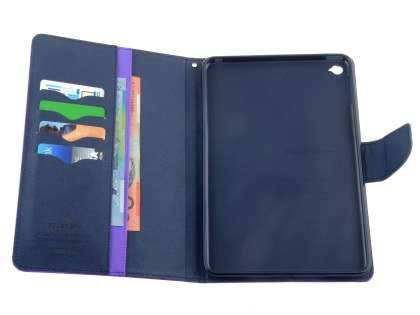 Mercury Colour Fancy Diary Case with Stand for iPad mini 4 - Purple/Navy