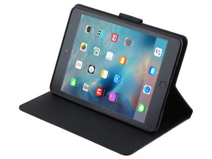 Mercury Goospery Colour Fancy Diary Case with Stand for iPad mini 4 - Classic Black