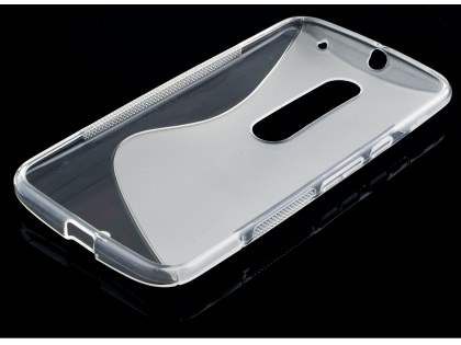 Wave Case for Motorola Moto X Style - Frosted Clear/Clear