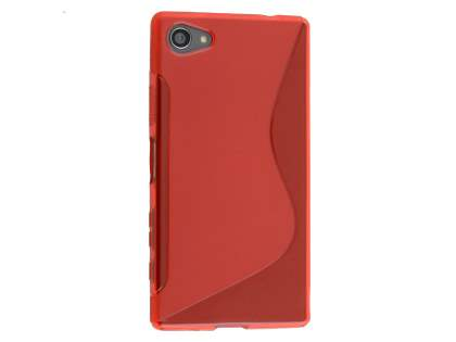 Wave Case for Sony Xperia Z5 Compact - Frosted Red/Red Soft Cover