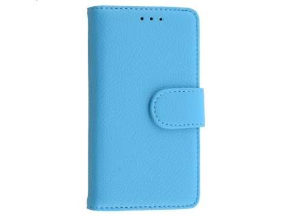 Slim Synthetic Leather Wallet Case with Stand for Sony Xperia Z5 Compact - Sky Blue Leather Wallet Case