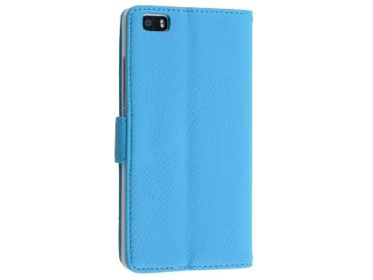 Slim Synthetic Leather Wallet Case with Stand for Sony Xperia Z5 Compact - Sky Blue