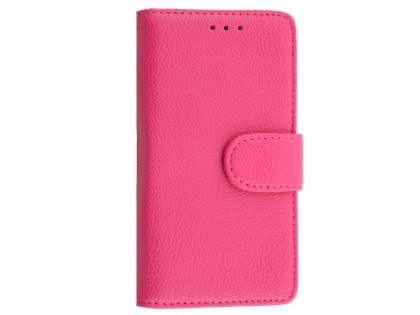 Slim Synthetic Leather Wallet Case with Stand for Sony Xperia Z5 Compact - Pink Leather Wallet Case