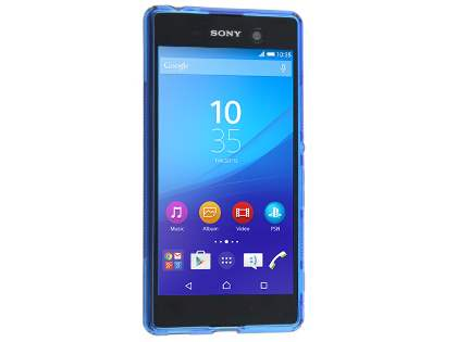 Wave Case for Sony Xperia M5 - Frosted Blue/Blue
