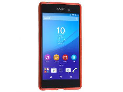 Wave Case for Sony Xperia M5 - Frosted Red/Red