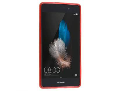 Wave Case for Huawei P8Lite - Frosted Red/Red