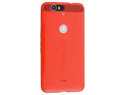 Wave Case for Huawei Nexus 6P - Frosted Red/Red Soft Cover