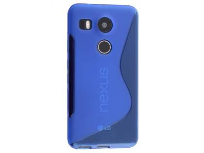 Wave Case for LG Nexus 5X - Frosted Blue/Blue Soft Cover