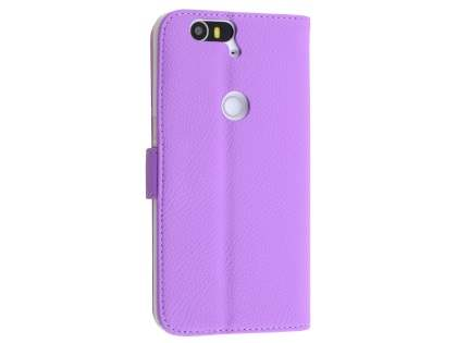 Synthetic Leather Wallet Case with Stand for Huawei Nexus 6P - Light Purple Leather Wallet Case