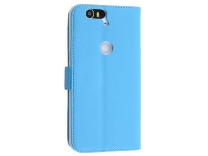 Synthetic Leather Wallet Case with Stand for Huawei Nexus 6P - Sky Blue