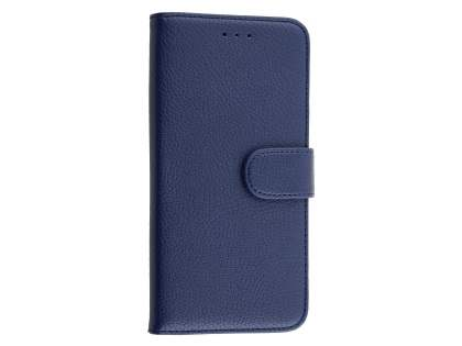 Synthetic Leather Wallet Case with Stand for Huawei Nexus 6P - Dark Blue Leather Wallet Case