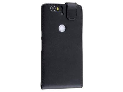 Synthetic Leather Flip Case for Huawei Nexus 6P - Black Leather Flip Case