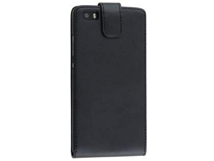 Synthetic Leather Flip Case for Huawei P8Lite - Black