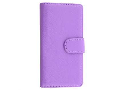 Synthetic Leather Wallet Case with Stand for Huawei P8Lite - Light Purple