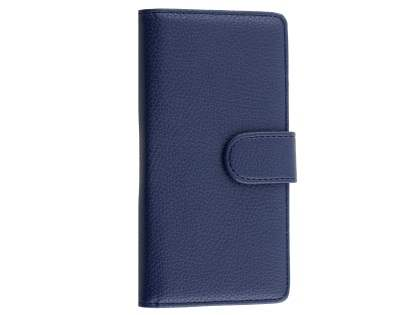 Synthetic Leather Wallet Case with Stand for Huawei P8Lite - Dark Blue