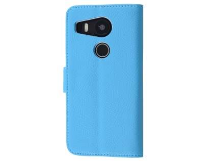 Slim Synthetic Leather Wallet Case with Stand for LG Nexus 5X - Sky Blue Leather Wallet Case
