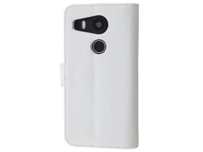 Slim Synthetic Leather Wallet Case with Stand for LG Nexus 5X - Pearl White Leather Wallet Case