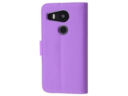 Slim Synthetic Leather Wallet Case with Stand for LG Nexus 5X - Light Purple