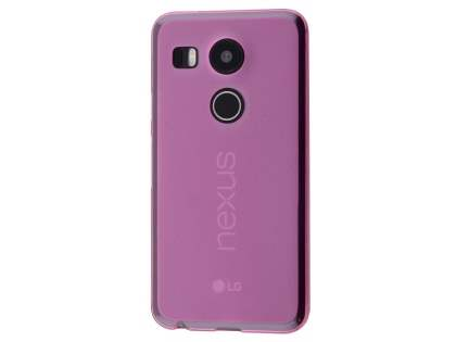 Frosted TPU Case for LG Nexus 5X - Pink Soft Cover