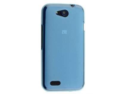 Frosted Colour TPU Case for ZTE Telstra 4GX Buzz - Blue Soft Cover