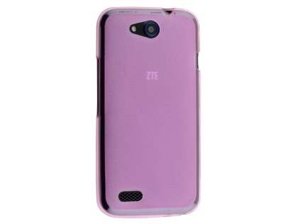 Frosted Colour TPU Gel Case for ZTE FIT 4G Smart - Pink Soft Cover