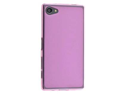 Frosted TPU Case for Sony Xperia Z5 Compact - Pink Soft Cover