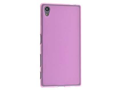 Frosted TPU Case for Sony Xperia Z5 - Pink Soft Cover