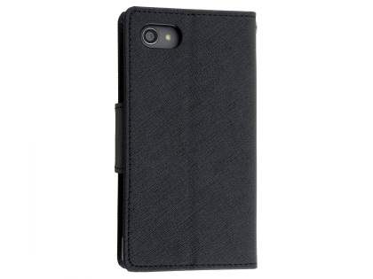 Mercury Colour Fancy Diary Case with Stand for Sony Xperia Z5 Compact - Classic Black