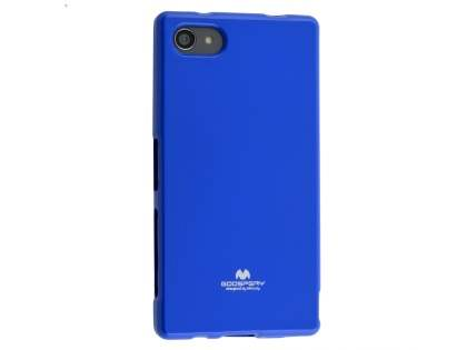 Mercury Glossy Gel Case for Sony Xperia Z5 Compact - Blue Soft Cover