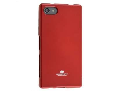 Mercury Glossy Gel Case for Sony Xperia Z5 Compact - Red Soft Cover