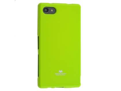 Mercury Glossy Gel Case for Sony Xperia Z5 Compact - Lime Green Soft Cover