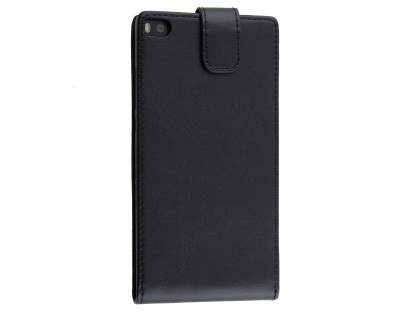 Synthetic Leather Flip Case for Huawei P8 - Black