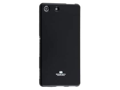 Mercury Goospery Glossy Gel Case for Sony Xperia M5 - Black Soft Cover